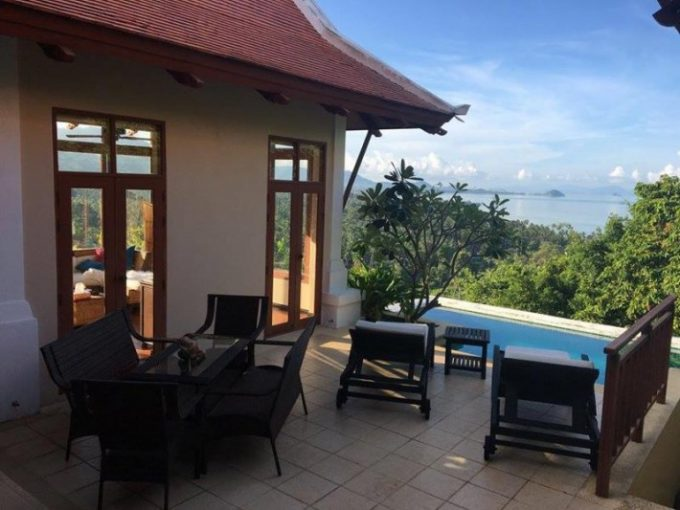 S1370: KOH SAMUI VILLA WITH BREATHTAKING VIEWS FOR SALE & RENT