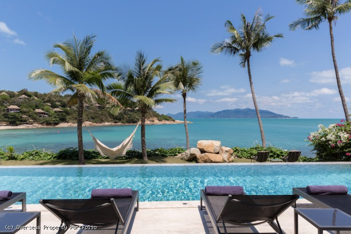 S1458: LUXURY 5 BEDROOM KOH SAMUI BEACHFRONT VILLA FOR SALE