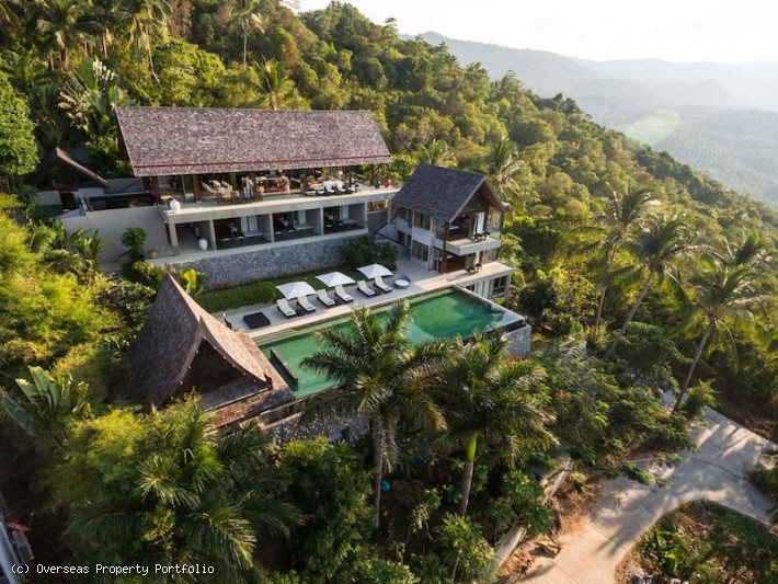 S1573: STUNNING MODERN SEA VIEW KOH SAMUI VILLA FOR SALE