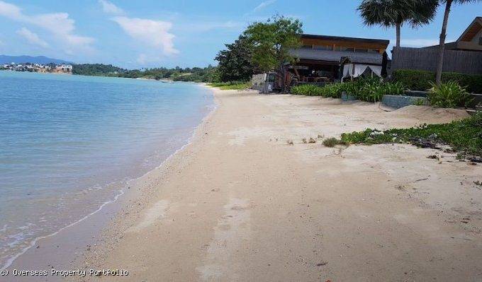 S1781: 3.25 RAI BEACHFRONT KOH SAMUI LAND PLOT FOR SALE