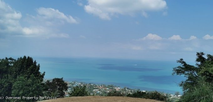 S1800: 2 RAI SEA VIEW KOH SAMUI LAND PLOT FOR SALE