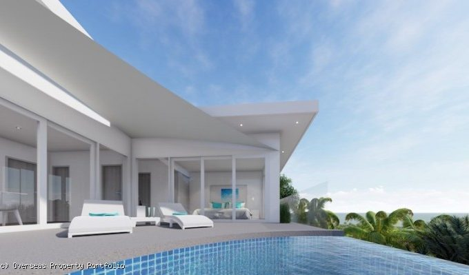S1811: CONTEMPORARY KOH SAMUI SEA VIEW VILLA FOR SALE