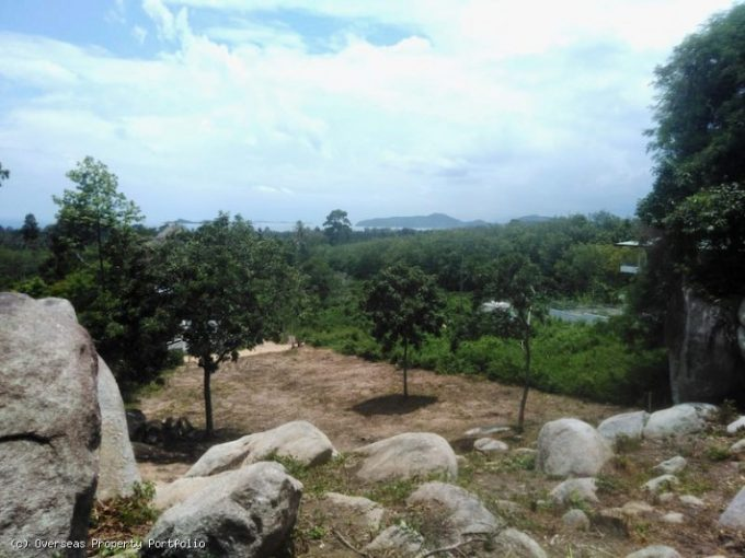 S1822: KOH SAMUI LAND WITH SEA VIEWS FOR SALE