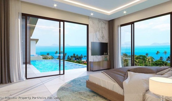 S1828: SEA VIEW KOH SAMUI VILLAS FOR SALE 600 METERS FROM THE BEACH