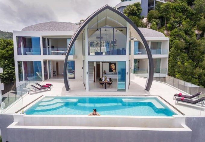 S1192: STUNNINGLY UNIQUE KOH SAMUI SEA VIEW VILLA FOR SALE